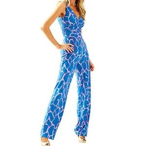 Lilly Pulitzer Sloan Jumpsuit One Piece Blue Pink